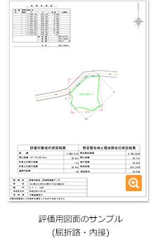 評価用図面サンプル(屈折路・内接)