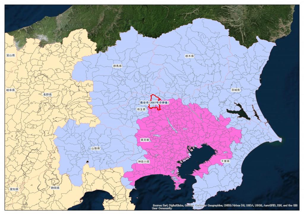 三大都市圏:地積規模の大きな宅地の評価:熊谷市